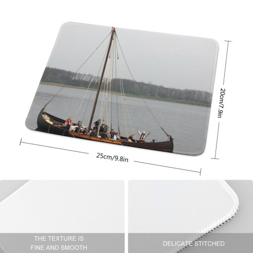 yanfind The Mouse Pad Viking Ship Roskilde Danmark Denmark Fjord Vikingship Nordic Scandinavia Fiord Vikings Exploration Pattern Design Stitched Edges Suitable for home office game