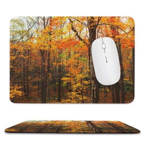 yanfind The Mouse Pad Saturation Tree Vibrant States Domain Plant Pa Leaf Delicate Public Great Pattern Design Stitched Edges Suitable for home office game
