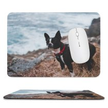 yanfind The Mouse Pad Dog Pet Bulldog Bull Strap Pictures Free Stock Images Boston Pattern Design Stitched Edges Suitable for home office game