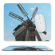 yanfind The Mouse Pad Building Mill Old Decayed Derelict Windmills Flowers Energy Wood Wooden Decay Mill Pattern Design Stitched Edges Suitable for home office game