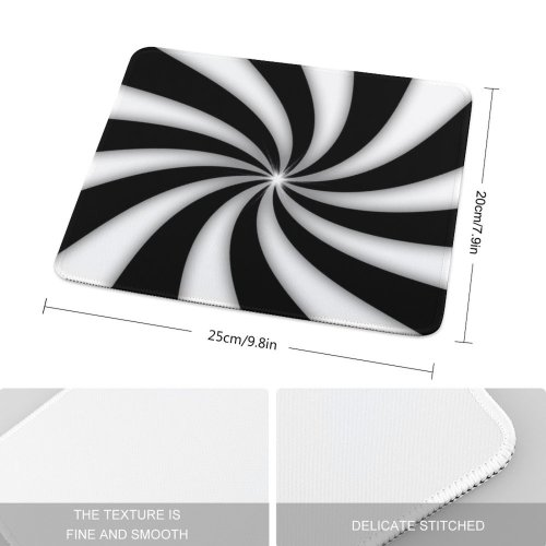 yanfind The Mouse Pad Twirl Twist Twister Retro Texture Textures Curve Gradient Circles Modern Abstract Art Pattern Design Stitched Edges Suitable for home office game