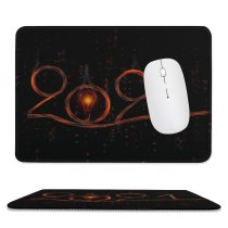 yanfind The Mouse Pad Dark Celebrations Year Happy Fire Pattern Design Stitched Edges Suitable for home office game