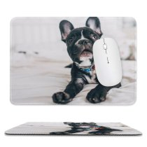 yanfind The Mouse Pad Dog Pet Bulldog Pictures Domain Images Public French Pattern Design Stitched Edges Suitable for home office game