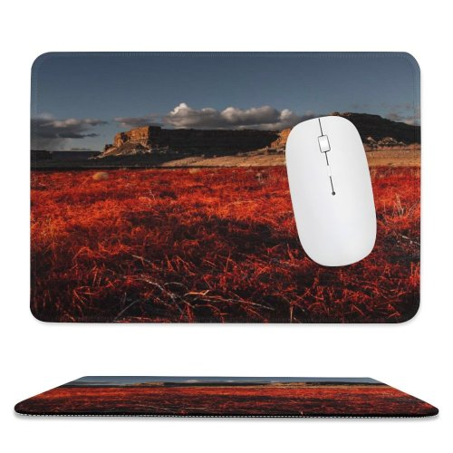 yanfind The Mouse Pad Scenery Field Mesa Grass Plant Free Outdoors Wallpapers Land Grassland Images Pattern Design Stitched Edges Suitable for home office game