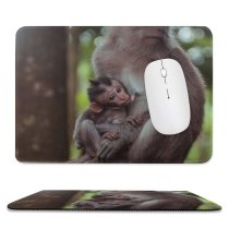 yanfind The Mouse Pad Ape Orangutan Tree Blur Ubud Wildlife Free Monkey Jungle Family Stock Pattern Design Stitched Edges Suitable for home office game
