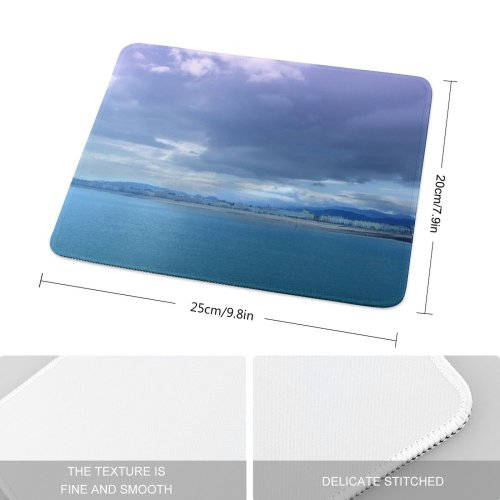 yanfind The Mouse Pad Wales Coast Sea Seaside Vacation Victorian Fish Pier Beach Space Old Sky Pattern Design Stitched Edges Suitable for home office game