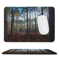 yanfind The Mouse Pad Abies Plant Woodland Forest Wilderness Grove Pictures Outdoors Grey Tree Fir Pattern Design Stitched Edges Suitable for home office game