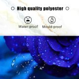 yanfind Romantic Rose Flowers Blue Enchantress Theme Fabric Floral Shower Curtain Sets Kids Bathroom Flower Decor with Hooks Waterproof Washable 72 x 72 inches Dark Blue
