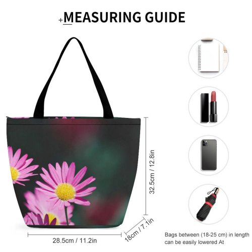 Yanfind Shopping Bag for Ladies Flower Flora Plant Daisies Daisy Aster Beauty Phistil Depth Field Sunny Reusable Multipurpose Heavy Duty Grocery Bag for Outdoors.
