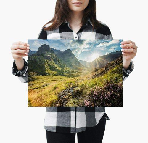 yanfind A3| Glencoe Mountains Poster Print Size A3 Scotland Nature Poster