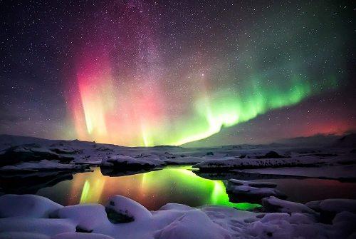 yanfind A1 | Northern Lights Poster Art Print 60 x 90cm 180gsm Aurora Arctic