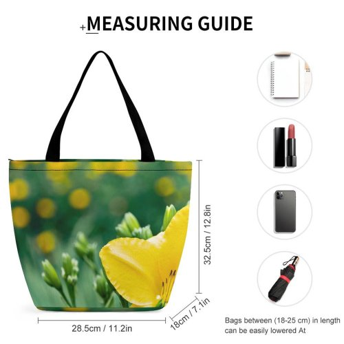 Yanfind Shopping Bag for Ladies Flower Flora Lily Plant Botanic Garden Wrocaw Poland Floral Petal Gladiolus Reusable Multipurpose Heavy Duty Grocery Bag for Outdoors.