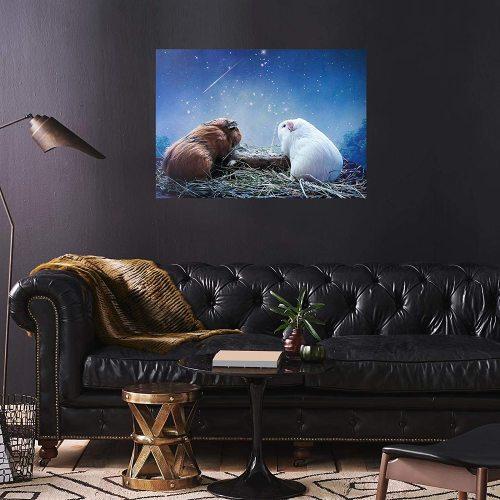 yanfind A2 | Cute Guinea Pig Funny Love - Size A2 Poster Print Photo Art Valentines