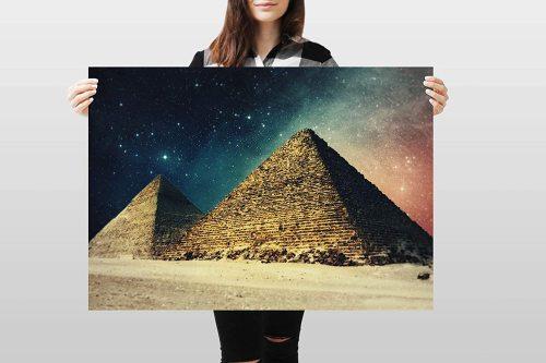 yanfind A1 | Egyptian Pyramids Poster Art Print 60 x 90cm 180gsm Egypt Giza