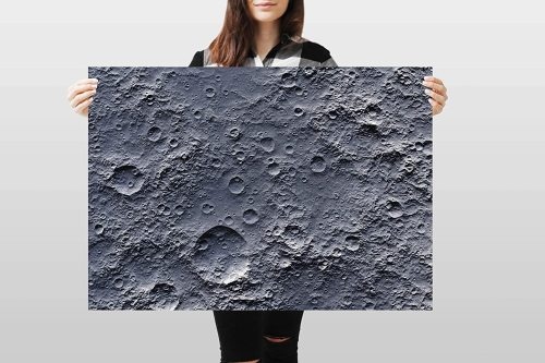yanfind A1 | Moon Surface Poster Art Print 60 x 90cm 180gsm Space Planet