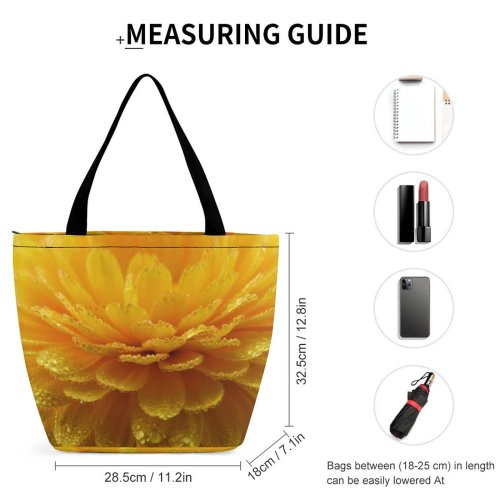 Yanfind Shopping Bag for Ladies Flower Asteraceae Flora Plant Dahlia Carnation Marygold Petals Garden Dew Bloom Reusable Multipurpose Heavy Duty Grocery Bag for Outdoors.