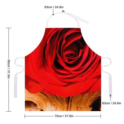 yanfind Custom aprons Flower Love Nobody Petals Plant Romantic Rosa Rose Spring white-style1 70×80cm