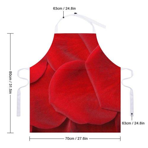 yanfind Custom aprons Flower Love Petal Petals Plant Romance Romantic Rose Sensual Valentine Wedding white-style1 70×80cm