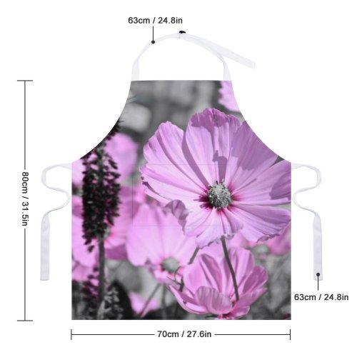 yanfind Custom aprons Flower Garden Monochromatic Pretty Love Peace Care Health Summer white white-style1 70×80cm