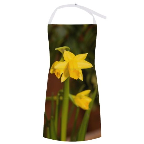 yanfind Custom aprons Flower Plant Daffodil Colour Garden Bloom Lily white white-style1 70×80cm