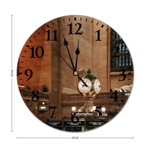 yanfind Fashion PVC Wall Clock Aged America Architecture Balcony Brick Wall Building Ceiling Cement Classic Column Mute Suitable Kitchen Bedroom Decorate Living Room