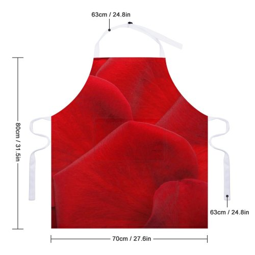 yanfind Custom aprons Flower Heart Love Marriage Occasional Petal Plant Proposal Ring Romance white-style1 70×80cm