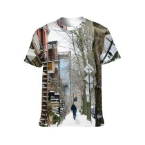 yanfind Adult Full Print T-shirts (men And Women) Aged Alone Anonymous Architecture Bare Building Calm City Cloudy Cool Daytime Destination
