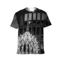 yanfind Adult Full Print T-shirts (men And Women) Aged America Architecture Attract Brick Wall Building Bw Ceiling Chandelier Classic Construction