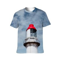 yanfind Adult Full Print T-shirts (men And Women) Aged Architecture Atmosphere Beam Sky Cloudy Colorful Construction Daytime Exterior