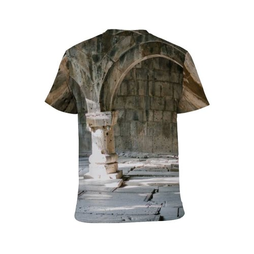 yanfind Adult Full Print T-shirts (men And Women) Abandoned Aged Ancient Arch Archaeology Arched Architecture Archway Art Building Classic Colonnade