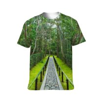 yanfind Adult Full Print T-shirts (men And Women) Aged Alley Ancient Architecture Attract Bamboo Botany Buddhism Buddhist Calm Daitoku