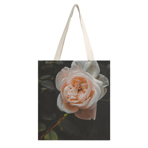 yanfind Great Martin Canvas Tote Bag Double Flower Plant Rose Bangladesh Geranium Petal Stock white-style1 38×41cm