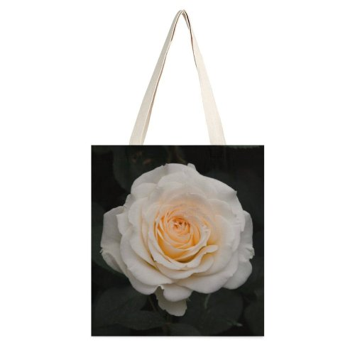 yanfind Great Martin Canvas Tote Bag Double Flower Plant Rose Creative Commons white-style1 38×41cm