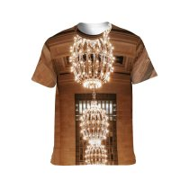yanfind Adult Full Print T-shirts (men And Women) Aged America Architecture Attract Balcony Brick Wall Building Ceiling Chandelier Classic Column
