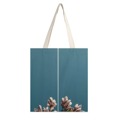 yanfind Great Martin Canvas Tote Bag Double Flower Petal Plant Warsaw Poland Bud Sprout Stillness Magnolia Worldviewmag Sky white-style1 38×41cm