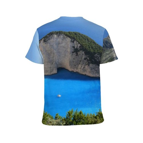 yanfind Adult Full Print T-shirts (men And Women) 4k Beach Bird's Coast Desktop From Above Ocean Scenic Sea Seascape