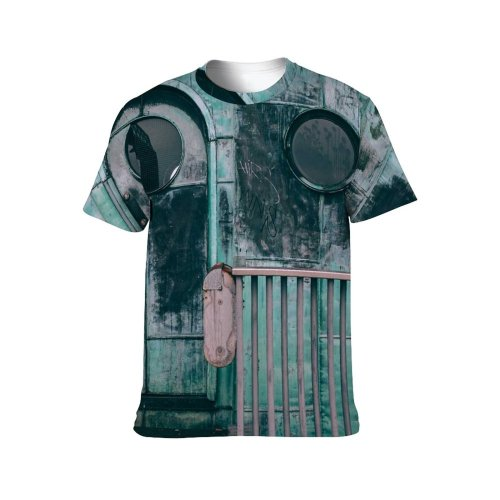 yanfind Adult Full Print T-shirts (men And Women) Abandoned Aged Architecture Barrier Building Cabin Combination Construction Corrosion Creepy Destruct Detail