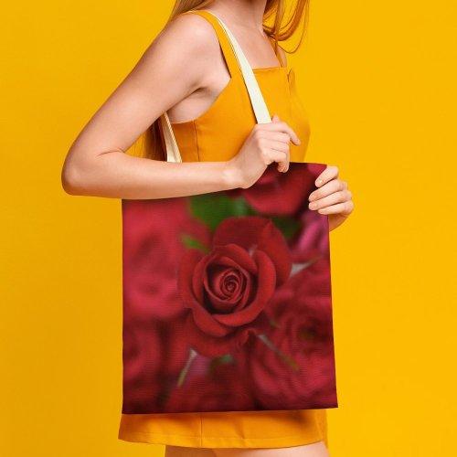yanfind Great Martin Canvas Tote Bag Double Flower Plant Rose Arrangement Bouquet white-style1 38×41cm