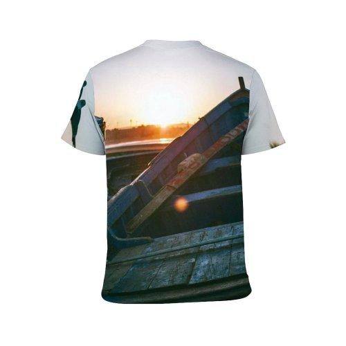 yanfind Adult Full Print T-shirts (men And Women) Abandoned Backlit Beach Bird Boat Calm Cloudless Coast Corrosion Damage Desolate