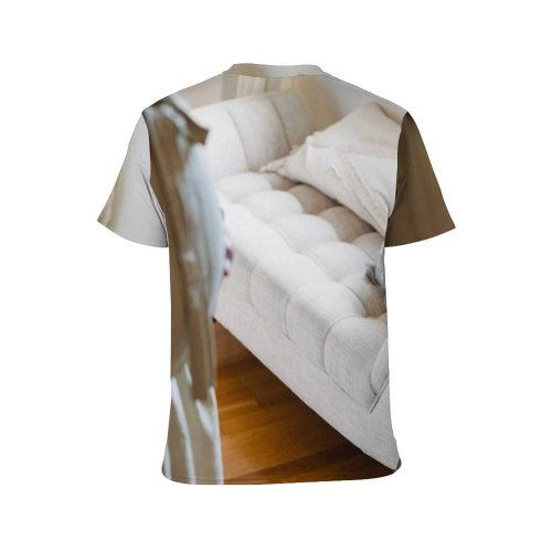 yanfind Adult Full Print T-shirts (men And Women) Abdomen Anticipate Await Belly Calm Care Casual Comfort Couch Daytime Dog