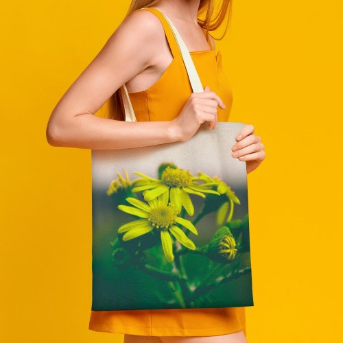 yanfind Great Martin Canvas Tote Bag Double Flower Plant Daisies Daisy Pollen Petal Asteraceae Macro white-style1 38×41cm