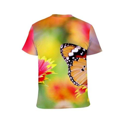 yanfind Adult Full Print T-shirts (men And Women) 4k Bloom Blooming Butterfly Delicate Desktop Flower Garden Flowers Focus