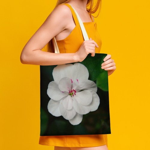 yanfind Great Martin Canvas Tote Bag Double Flower Plant Geranium Rose Grey Stock white-style1 38×41cm
