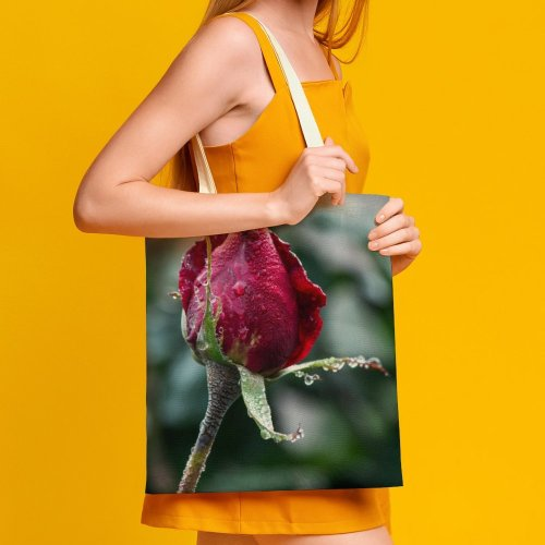 yanfind Great Martin Canvas Tote Bag Double Flower Plant Rose Bud Sprout Public Domain white-style1 38×41cm