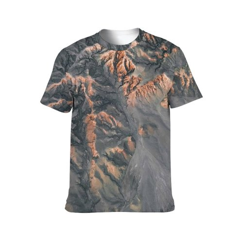 yanfind Adult Full Print T-shirts (men And Women) Abandoned Aerial Aged Altitude Arid Breathtaking Calm Cliff Desert Destination Drone Dry