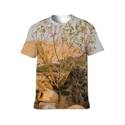 yanfind Adult Full Print T-shirts (men And Women) Abandoned Aged Ancient Barrier Broken Building Cement Ceramic Classic Clay Construction Crack