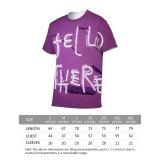 yanfind Adult Full Print T-shirts (men And Women) 4k Alphabet Android Conceptual Creativity Display Elegant Fashion Hands Hello Light Neon