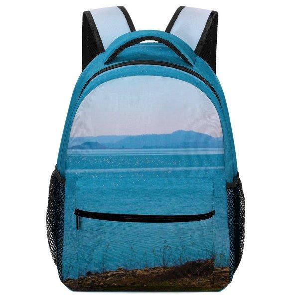 yanfind Children's Backpack Land Outdoors Ocean Sea Shoreline Coast Bargi Reservoir Madhya Pradesh Scenery Preschool Nursery Travel Bag