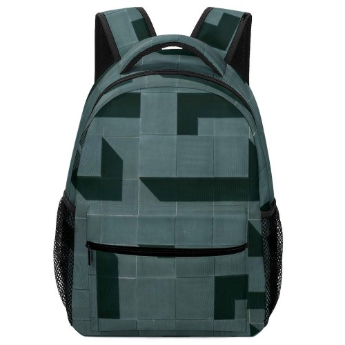 yanfind Children's Backpack Detail Design Norway Shadows Grid Light Illusion Minimalistic Optical Building Abstract Shapes Preschool Nursery Travel Bag