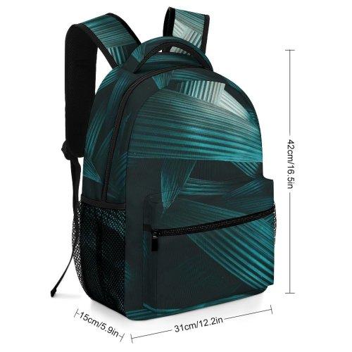 yanfind Children's Backpack Foliage Art Plant Dark Abstract Texture Leaves Preschool Nursery Travel Bag